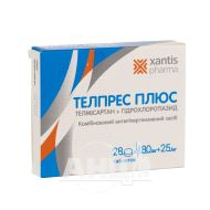Телпрес плюс таблетки 80 мг + 25 мг блістер №28