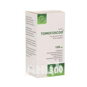 Томогексол розчин для ін'єкцій 300 мг йоду/ мл флакон 100 мл №1