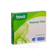Тевалор-Тева таблетки для рассасывания блистер №20