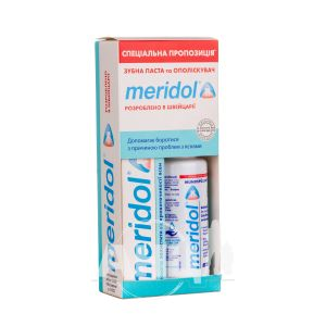 Набір зубна паста Meridol 75 мл + ополіскувач 100 мл