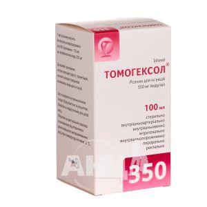 Томогексол розчин для ін'єкцій 350 мг йоду/ мл флакон 100 мл №1