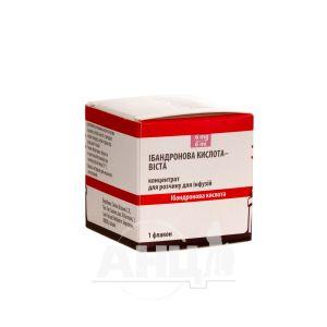 Ибандроновая кислота-Виста концентрат для раствора для инфузий 6 мг флакон 6 мл №1