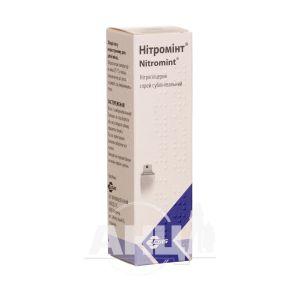 Нітромінт спрей дозований сублінгвальний 0,4 мг/1 доза балон 180 доз №1