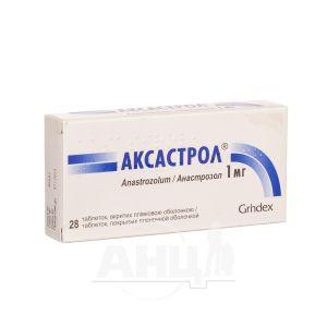Аксастрол таблетки покрытые пленочной оболочкой 1 мг №28