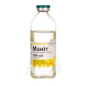 Маніт розчин для інфузій 15% пляшка 200 мл