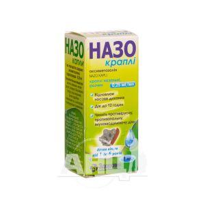 Назо капли назальные раствор 0,25 мг/мл флакон 8 мл