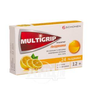 Мультігріп льодяники з медом і лимоном №24