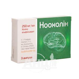 Ноохолін розчин для ін'єкцій 250 мг / мл в ампулах 4 мл №3