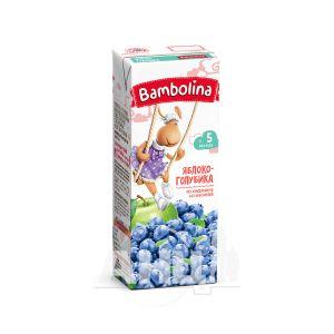 Нектар фруктовый для детей грудного возраста Bambolina яблоко, голубика 200 мл