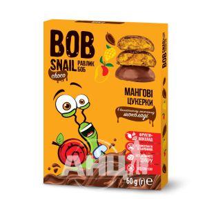 Конфеты Улитка Боб в молочном шоколаде манго 60 г