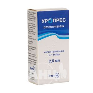 Уропрес краплі назальні 0,1 мг/мл флакон 2,5 мл