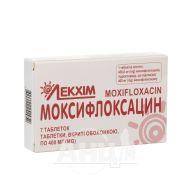 Моксифлоксацин таблетки 400 мг №7