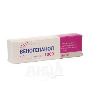 Веногепанол 1000 гель туба 40 г