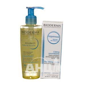 Набір Bioderma Atoderm масло для душа 200 мл + бальзам для обличчя поживний 40 мл