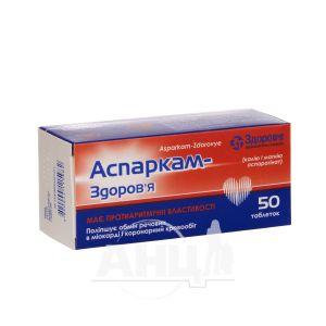Аспаркам-здоровье таблетки блістер №50