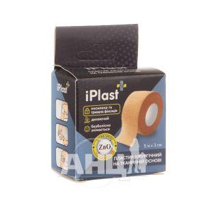 Пластырь Iplast хирургический 5 м х 3 см на тканевой основе