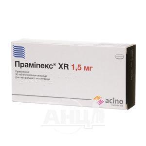 Праміпекс xr таблетки пролонгованої дії 1,5 мг №30