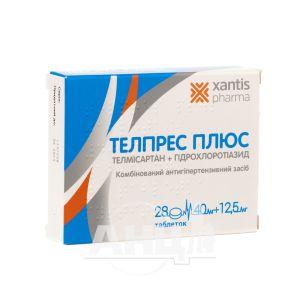 Телпрес плюс таблетки 40 мг + 12,5 мг блістер №28