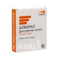 Алмірал розчин для ін'єкцій 75 мг ампула 3 мл №5