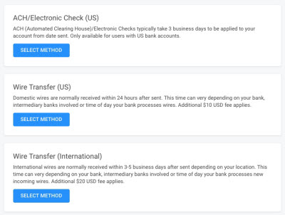 Escrow.com payment options