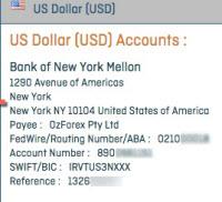 Sample OFX bank details