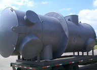 USED Acid Plant including Heat Exchangers, Drying Tower, Carbon Filter, Compressors, Wet Scrubber, etc.