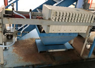 """Filter Press with 14 plates measuring 18-1/2"""" x 18-1/2"""" x 2-1/2"""" thick"""