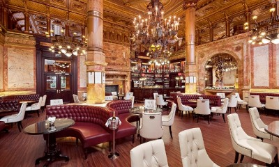 Restaurant of the hotel Metropole, a real museum of the Belle Epoque