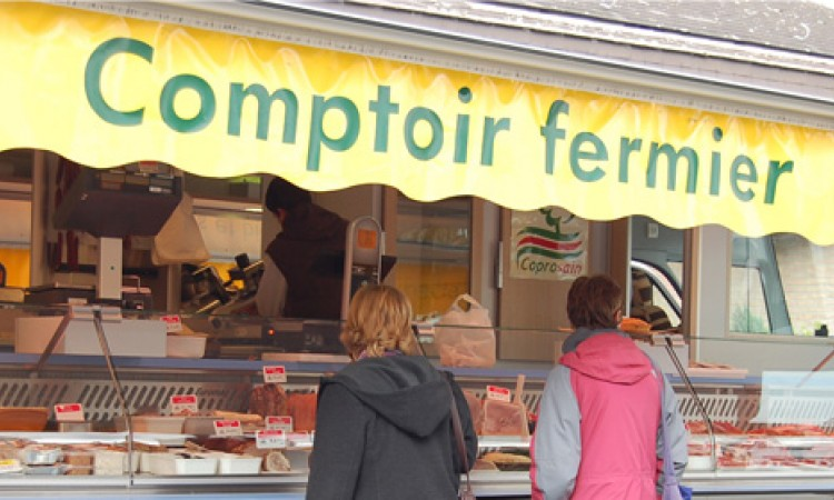 "The ""comptoirs fermiers"" for fresh products of quality"