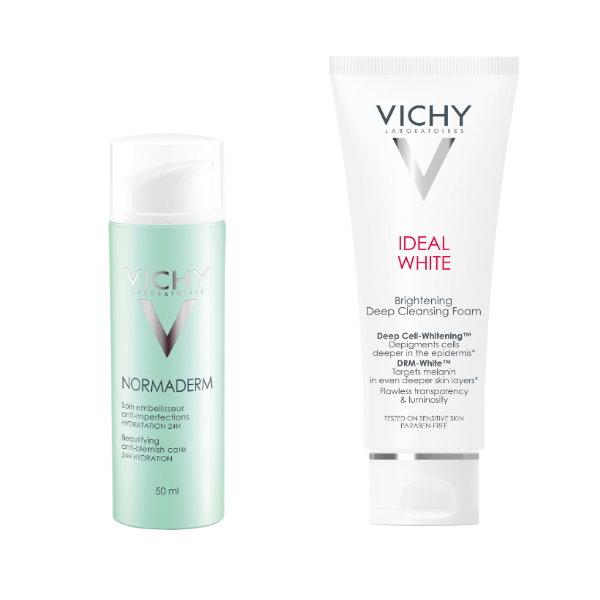VICHY,薇姿,淨膚透白洗面露,新皮脂平衡多效精華乳,精華,洗面露,潔顏,洗面乳,敏感肌,油性肌,痘痘肌,試用,體驗