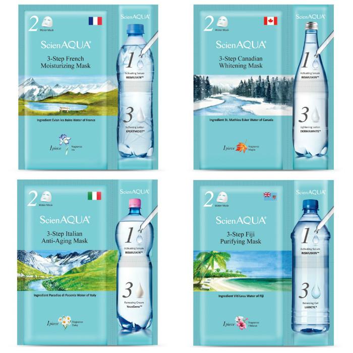 ScienAQUA, 科水, 三部曲面膜, 法國保濕, 加拿大美白, 義大利青春, 斐濟淨化, 前導精華, 水面膜, 賦活霜, 試用, 體驗