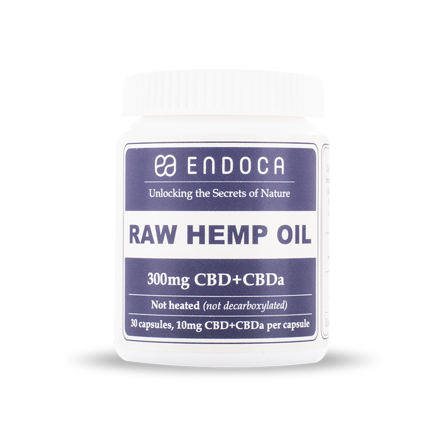 Capsules Raw Hemp Oil Total: 300mg CBD+CBDa - 30ct