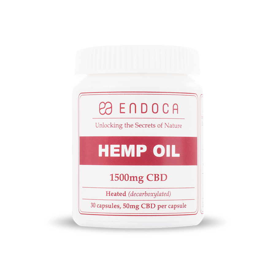 Capsules Hemp Oil Total: 1500mg CBD - 30ct