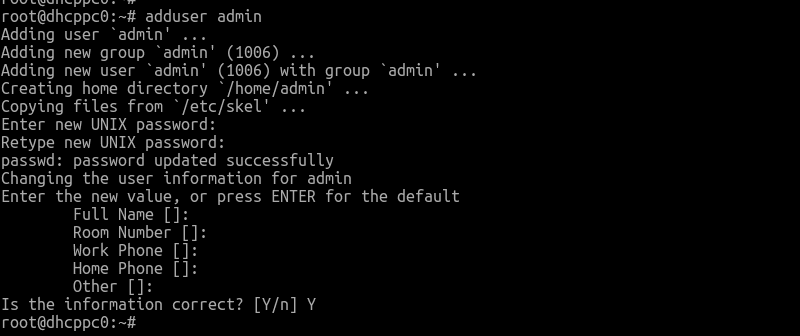 Create a user in Debian Linux using adduser Command
