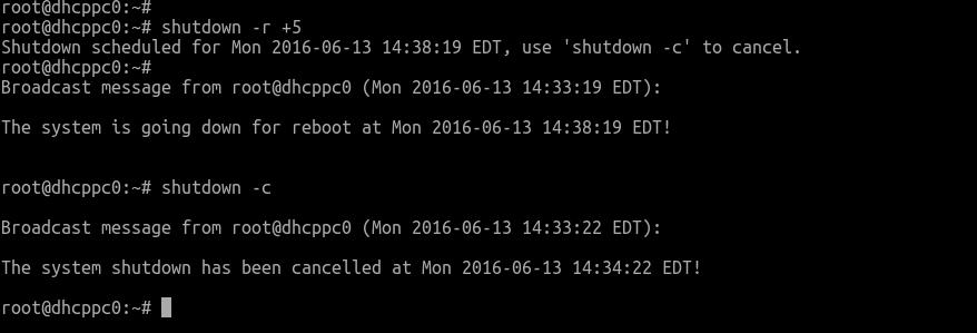 Debian Restart Command