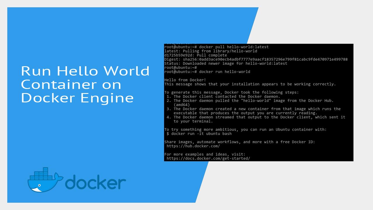 Run Hello World Container on Docker Engine