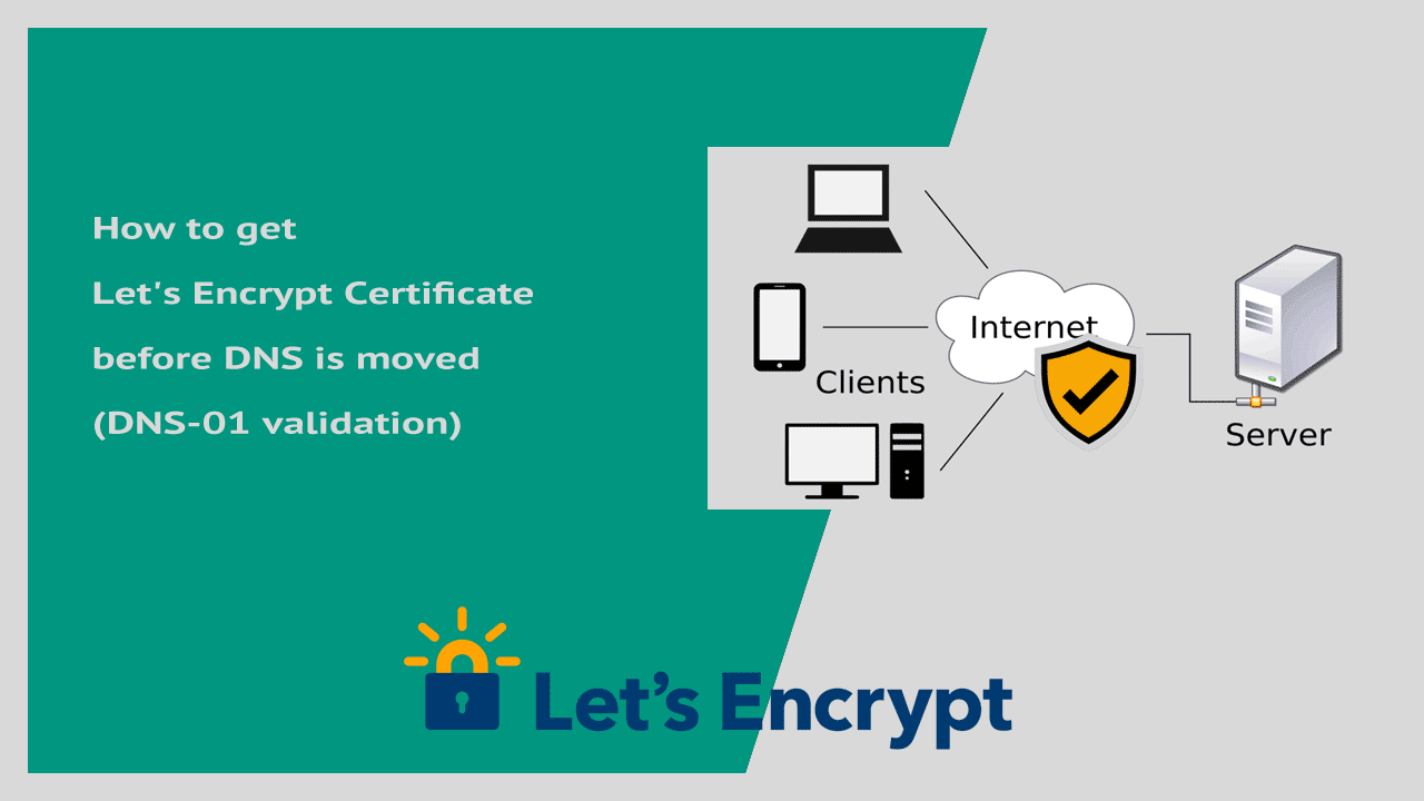 How to get a Let's Encrypt Certificate before DNS is moved (DNS-01 validation)