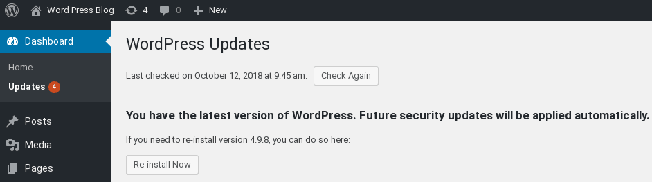 You have the latest version of WordPress