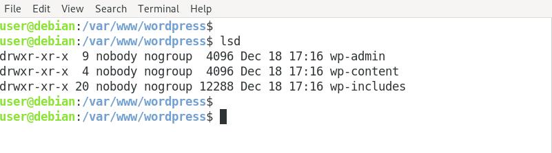 list directories linux