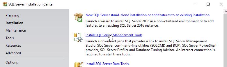 How to Install SQL Server Management Studio for MS SQL Server 2016