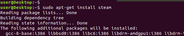 apt-get install steam