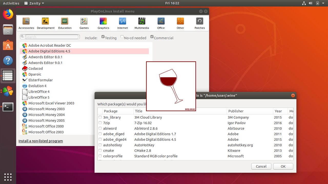 Install Wine, Winetricks and PlayOnLinux on Ubuntu 18.04