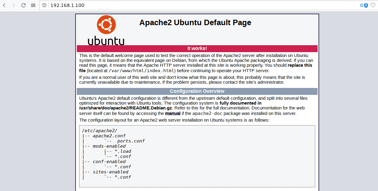 Install and Configure Apache web server on Ubuntu 18.04