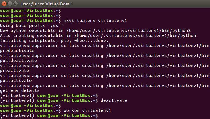 create python virtualenv on ubuntu linux