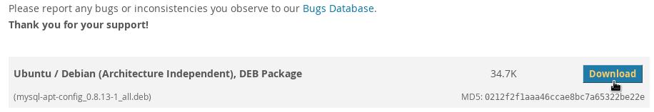 Download MySQL for Ubuntu