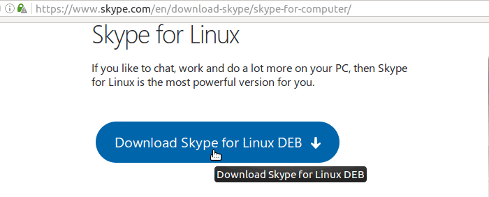 Download Skype Deb Package for Ubuntu Linux