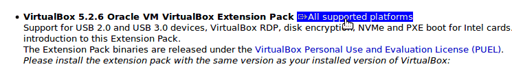 Download VirtualBox Extension pack for Ubuntu