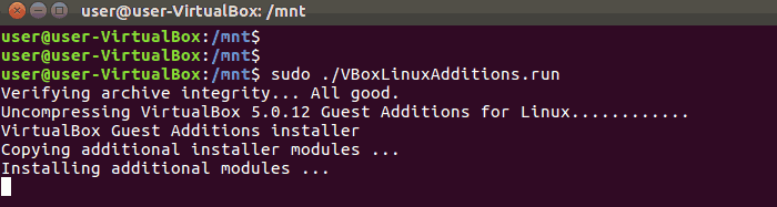 Install VirtualBox Guest Additions Ubuntu 16.04