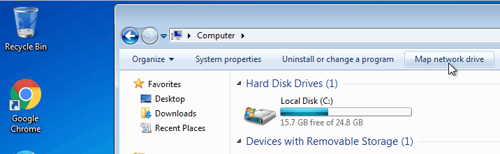 map network drive windows 7