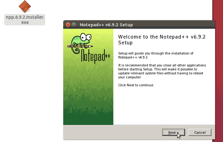 Ubuntu Notepad ++ Installation process